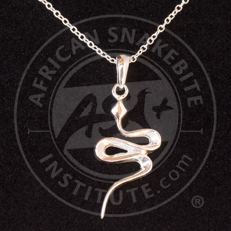 Asi sterling silver snake pendant african snakebite institute home shop jewellery asi sterling silver snake pendant aloadofball Image collections