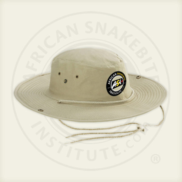 ASI Outdoor Hat, Khaki, Adjustable Chin strap, Embroidered