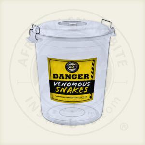 ASI Snake Bucket, Transparent, Lid, Sticker