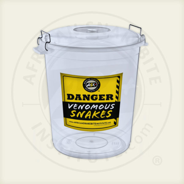 ASI Snake Bucket, Transparent, Lid, Sticker