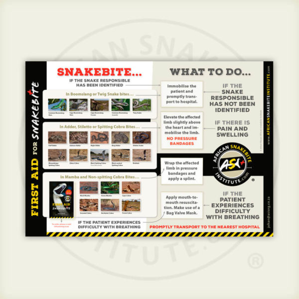ASI First Aid for Snakebite Poster