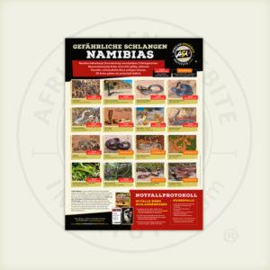 ASI Gefährliche Schlangen Namibias Poster
