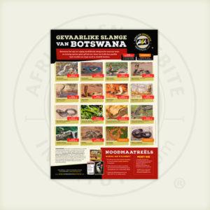 ASI Gevaarlike Slange van Botswana Plakkaat