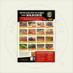 ASI Gevaarlike Slange van Namibië Plakkaat