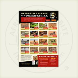 ASI Gevaarlike Slange van Suider-Afrika Plakkaat