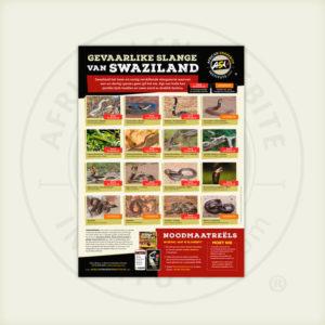 ASI Gevaarlike Slange van Swaziland Plakkaat