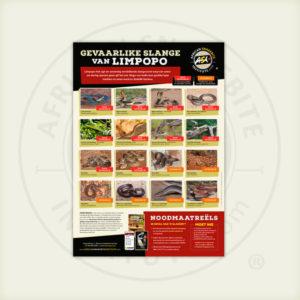 ASI Gevaarlike Slange van Limpopo Plakkaat