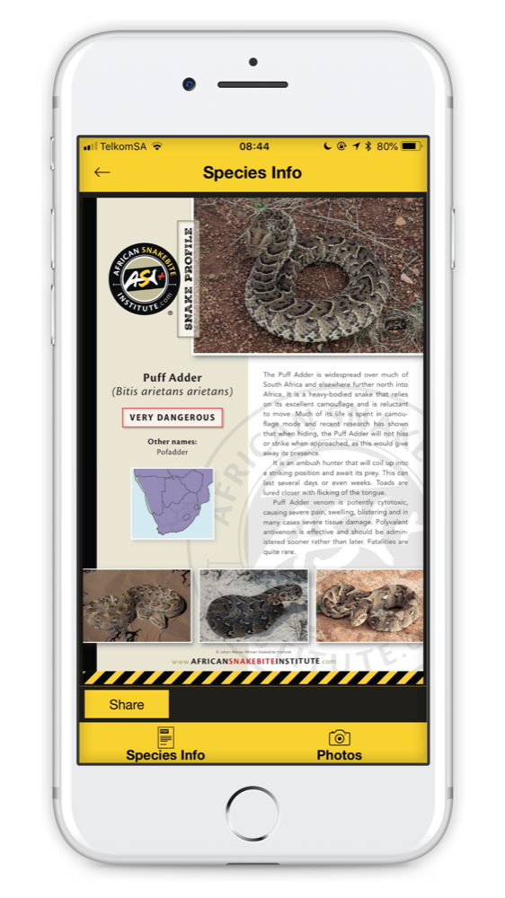 Download our free app - African Snakebite Institute